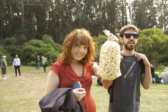kettle corn success! Robyn and Sherman