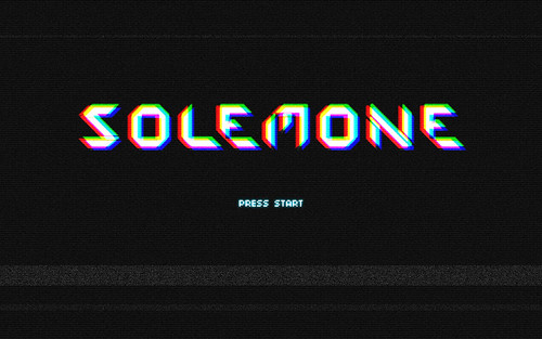 solemone 80's videogame texteffect