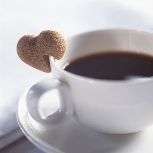 Brown sugar hearts, tea, coffee, hot chocolate, brown, white, cup, via coxandcox.co.uk