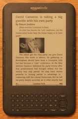 A picture of The Guardian on a Kindle