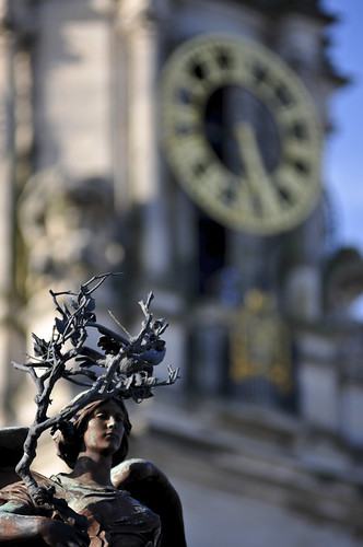 Boer War Statue & City Hall Clock