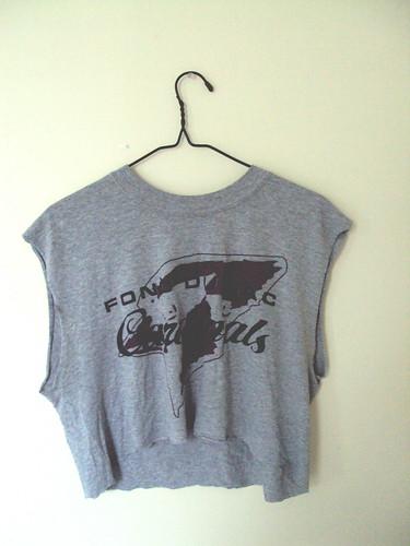 Cut off Football T-shirt (front)
