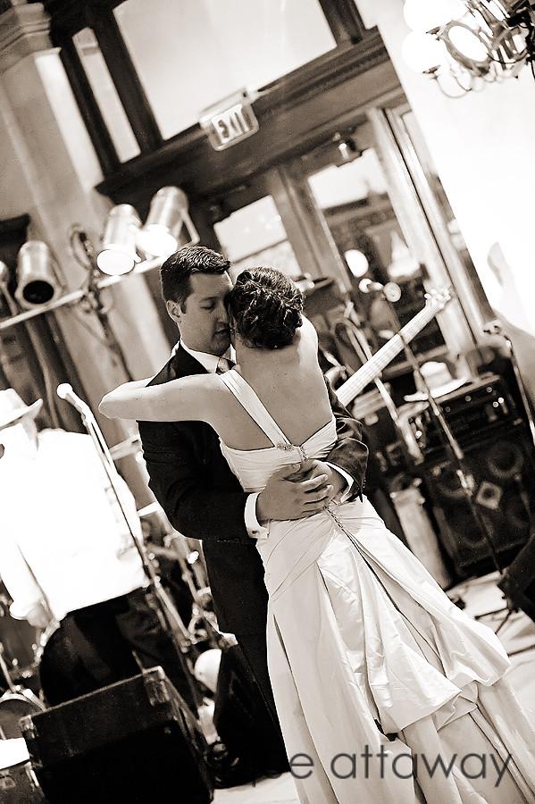 newlywed dancing