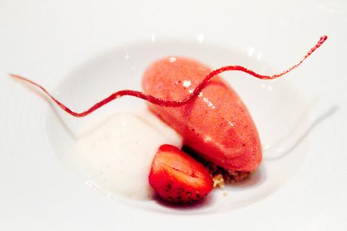 Dessert 1: Strawberry Sorbet