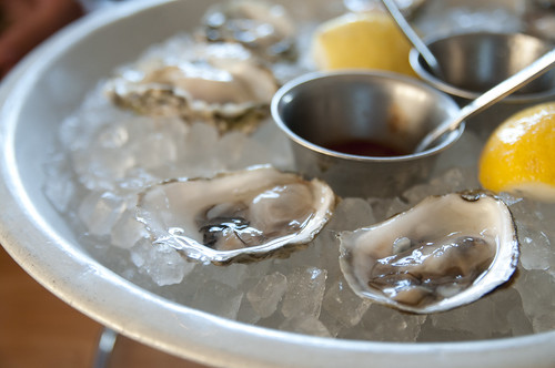 Half Dozen Oysters, Slanted Door, Ferry Building Marketplace, San Francisco
