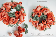 (kmflower) Tags: flowers coral fleurs handmade wreath arrange ranuculus