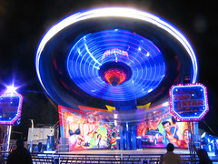 Goose Fair - Top Star (Nick_Fisher) Tags: nottingham urban night canon fun neon ride fairground nick carousel fair goose powershot fisher 2010 a700 nickfisher