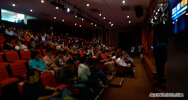 Mybloggercon award was held in the auditorium at Wawasan Open University this year