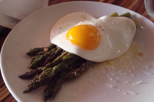 Roasted Asparagus with a Fried Egg at Monza in Charleston
