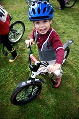 Gabriel loves his new bike! (shetha) Tags: gabriel bicycle kids oregon race rainier cyclocross crosscrusade kiddiecross