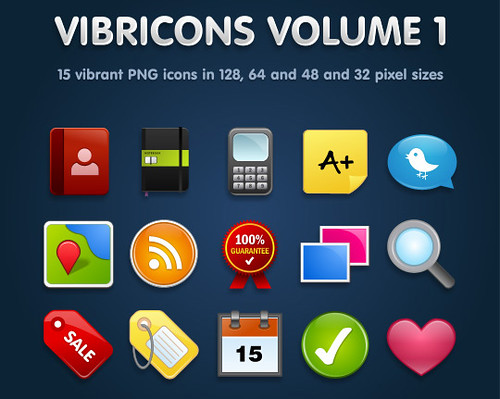 Vibricons � 15 Free Vibrant PNG Icons