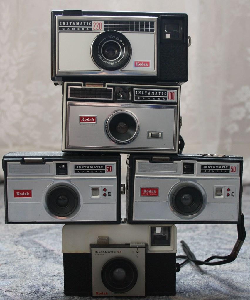Kodak Instamatic 25,50,100 & 220