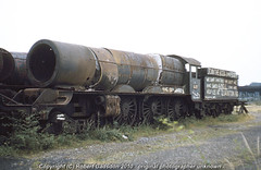 1977 - Advertising on a King.. (Robert Gadsdon) Tags: wales geotagged rust king steam barry scrapyard 1977 slogans gwr 460 6023 woodhams kingedwardii geo:lon=3277906 geo:lat=51395109