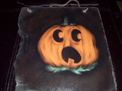 003 (Chad Maybray) Tags: halloween pumpkin hand painted slate