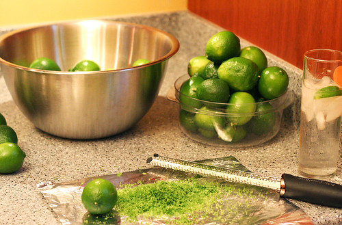 Lime-cello, Step 1: Zest!