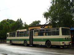 - 317 119  2007 . Troleibuz DAC-Ceavdar 317ETr Nr.119 Pernik Bulgaria (Balkanton) Tags: street nature sign design communist communism bulgaria socialist signboard socialism trolleybus