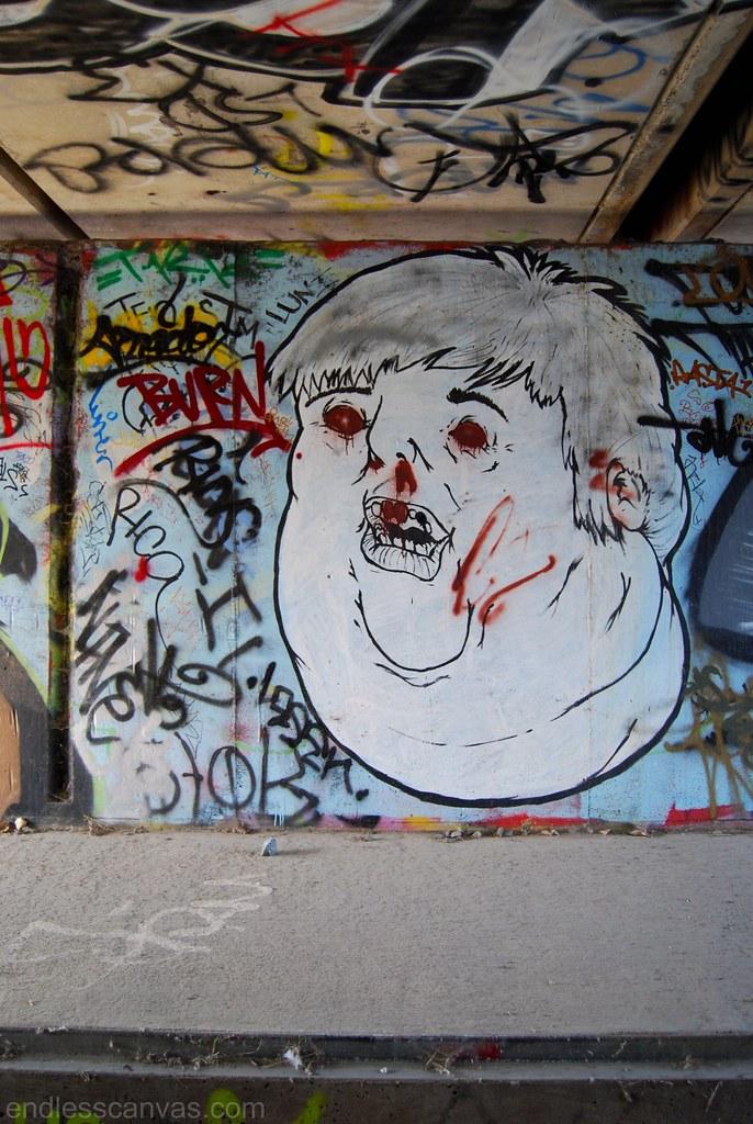 Remik Graffiti Face East Bay CA.