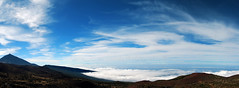 panoramica teide (Yeray Rojas Garca Photography) Tags: sea sky espaa naturaleza clouds de atardecer navidad mar nikon paisaje canarias panoramic cielo panoramica tenerife garcia teide islascanarias rojas d60 largaexposicin yeray