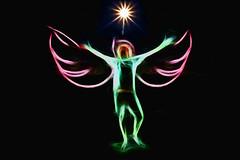Swan Song (JustinJensen) Tags: light moon angel night painting swan wings paint song filter 24