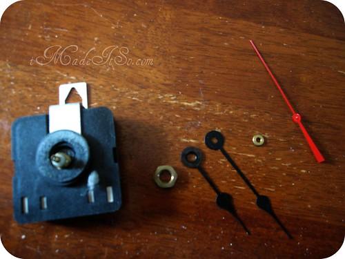 taking clock mechanism apart