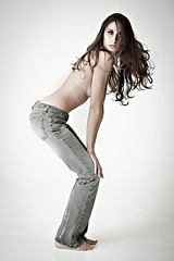 _CTP2816 (Chi Tran 365) Tags: camera white model nikon rip flash off just jeans denim abs seamless buttonfly cyc p90x