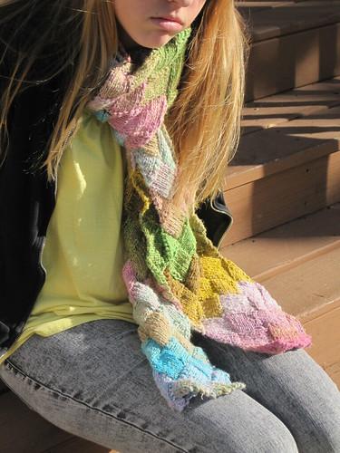 entrelac scarf