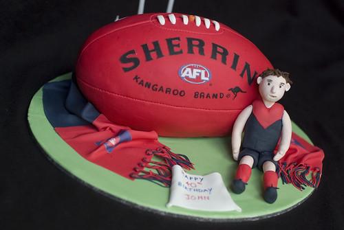 Melbourne Demons AFL Football Cake