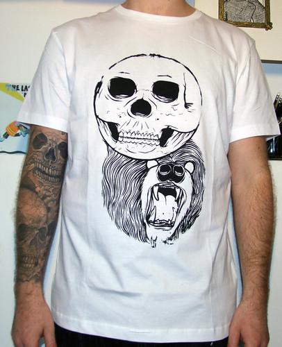 Skullbear Tee White