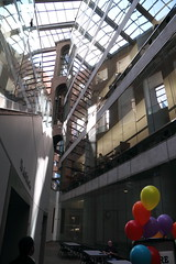 Vancouver Library skylight + balloons (Geoff Peters 604) Tags: canada vancouver downtown bc library vpl