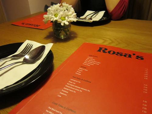 Dinner at Rosa's on Dean Street