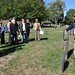 David Westmoreland leads a tour of Pine Island Cemetery in conjuction with a lecture by William Hosley at the Lockwood-Mathews Mansion Museum