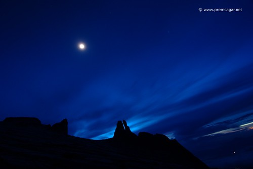 Mt Kinabalu in the moonlight