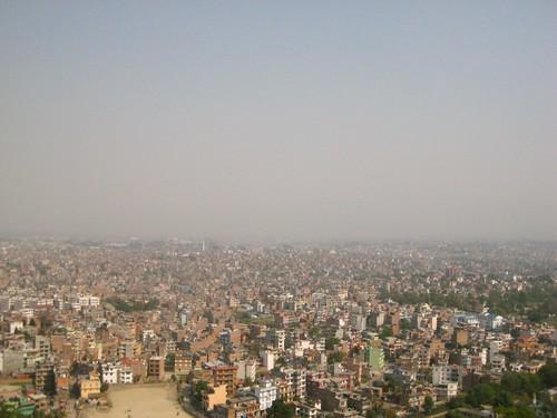 Kathmandu bird eye view