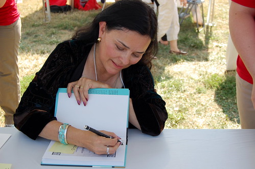 Diana signing my book.