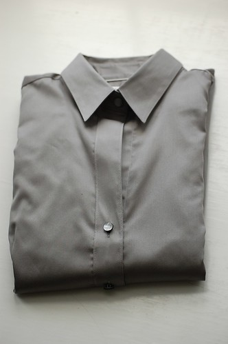 Grey shirt completely folded