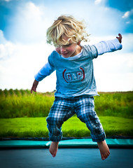 Jump!! (fysiot) Tags: portrait playing holland cute girl kids fun happy photo kid jumping child little young lightroom kidsfun