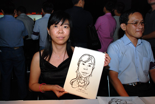 caricature live sketching for SDN First Anniversary Bash - 27
