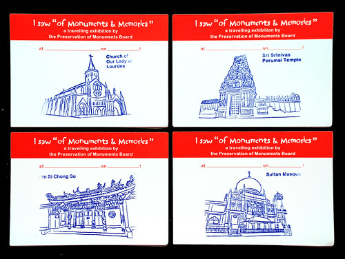 Know Your Monuments illustration printed on postcards