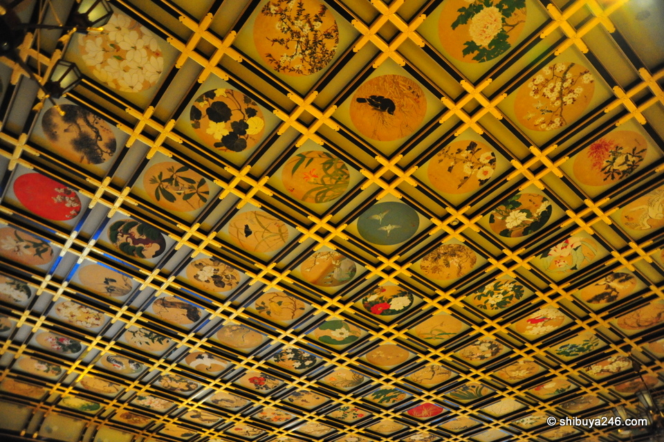 The ceiling of this room was very detailed