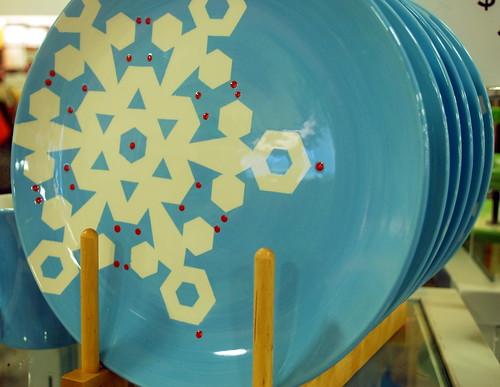 Snowflake Plates at HomeGoods