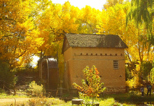 Old Grist Mill in October Light