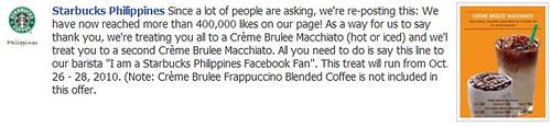 Free Starbucks Philippines Creme Brulee Macchiato