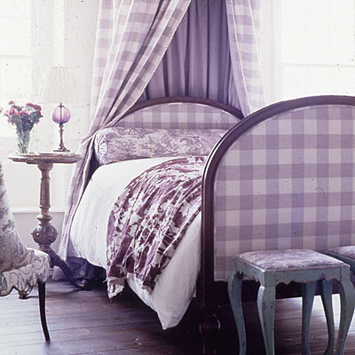 Plaid Lavender Bedroom