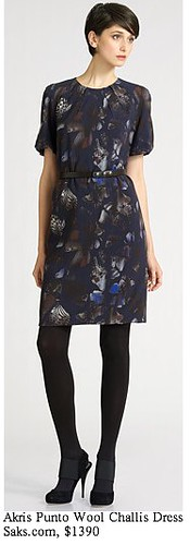 Saks.com - Akris Punto - Wool Challis Print Dress