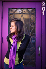 Door 201 (moiht) Tags: door scarf purple minneapolis mn 27th alienbees strobist b1600