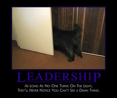Leadership (Demotivational Poster) (BoogaFrito) Tags: door dog puppy poster funny sad blind chow leader leadership chows blindness motivational chowchow demotivation demotivational demotivationalposter