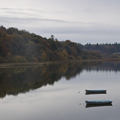 Autumn (Andy Sheridan) Tags: autumn ireland irish lake reflection water leaves boats castleleslie glaslough comonaghan