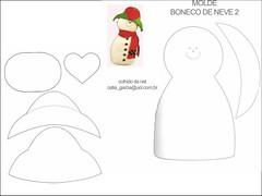 +boneco de neve (alinnerj) Tags: natal fuxico feltro pap molde duende passoapasso moldedenatal nataldefeltro