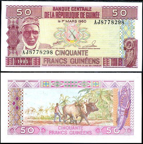 50 Frankov Guinea 1985, P29