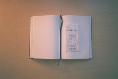 (dream states) Tags: 35mm notebook receipt olympusstylus closetoyou
